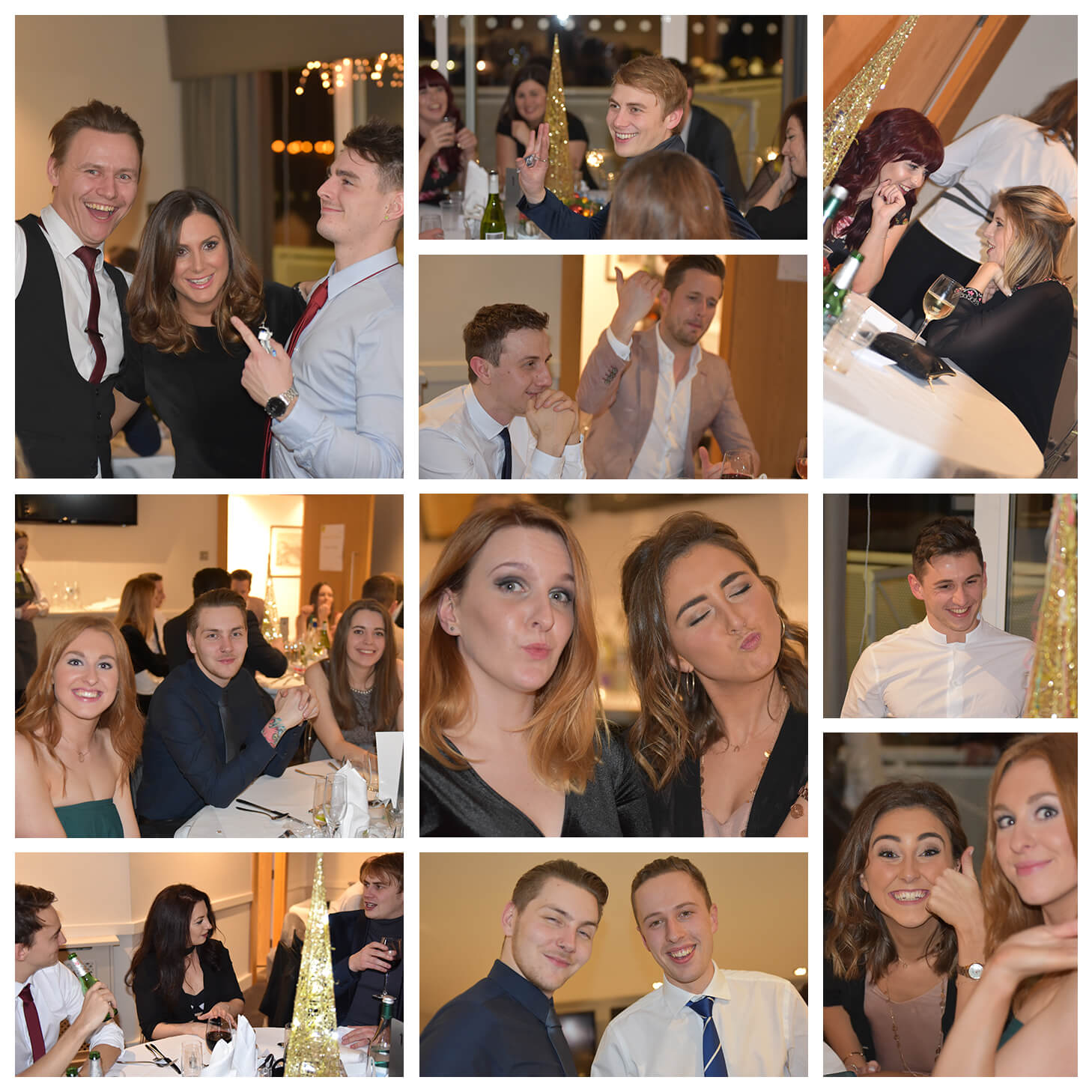 More photos of the team at the office Christmas party