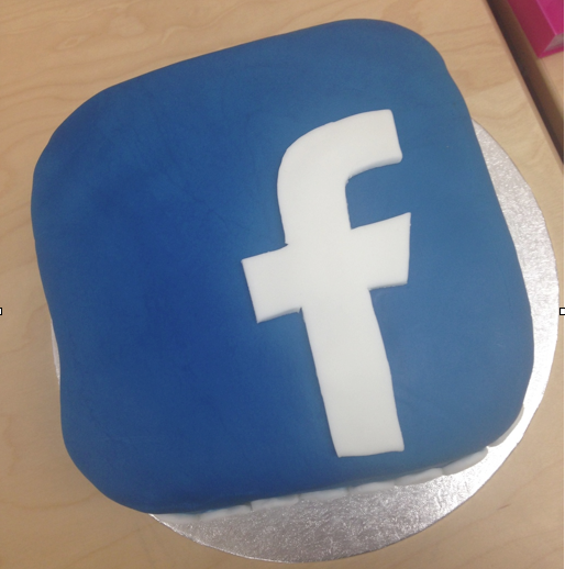 Facebook Birthday Cake