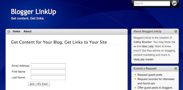 Blogger Link Up Homepage