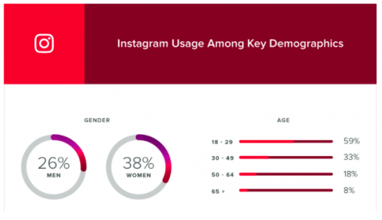 Instagram usage among key demographics