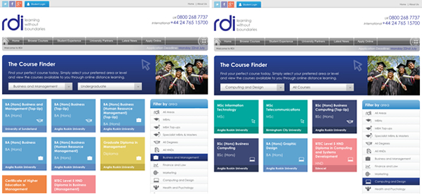 RDI Course Finder