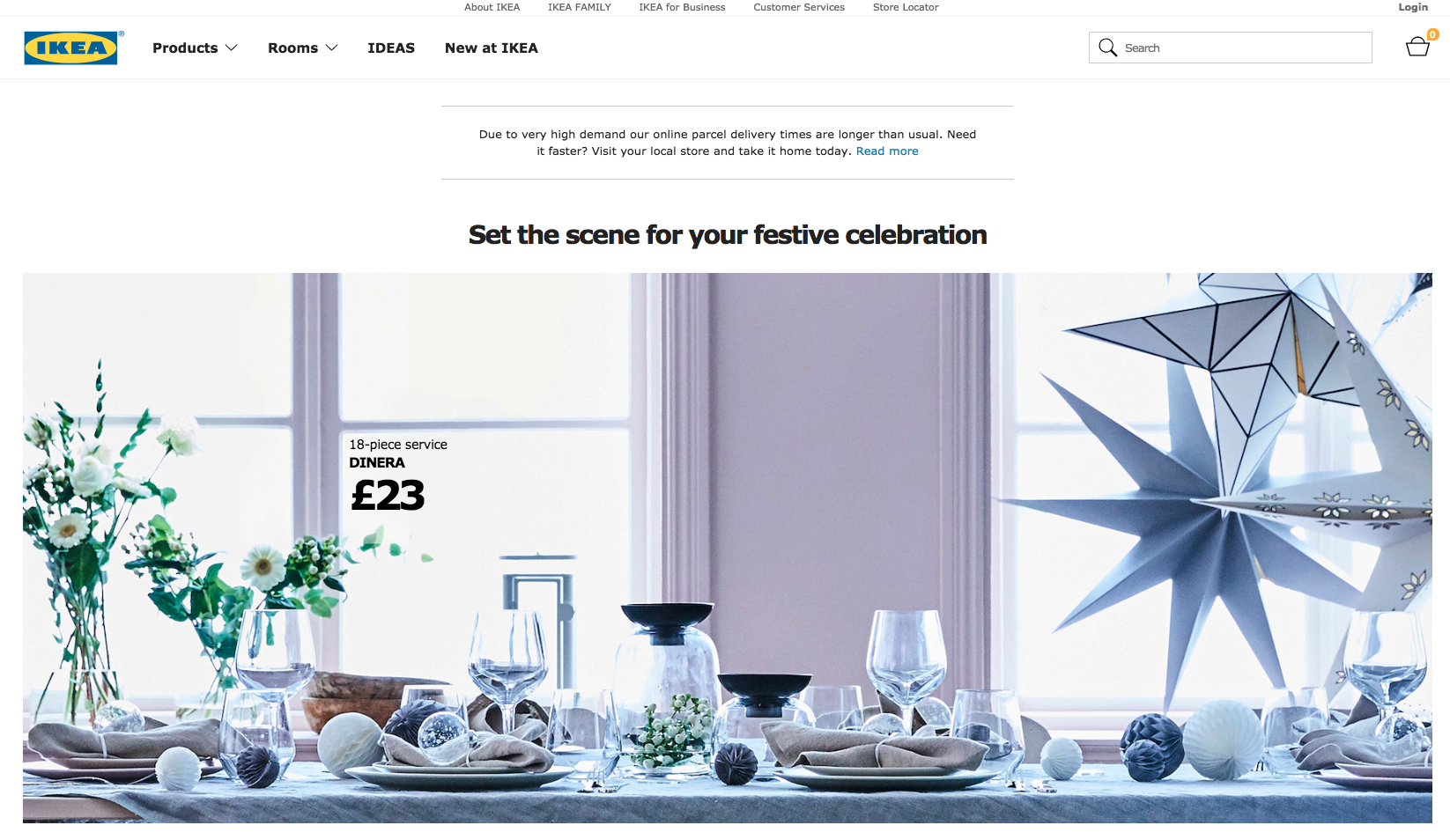 IKEA UK Homepage