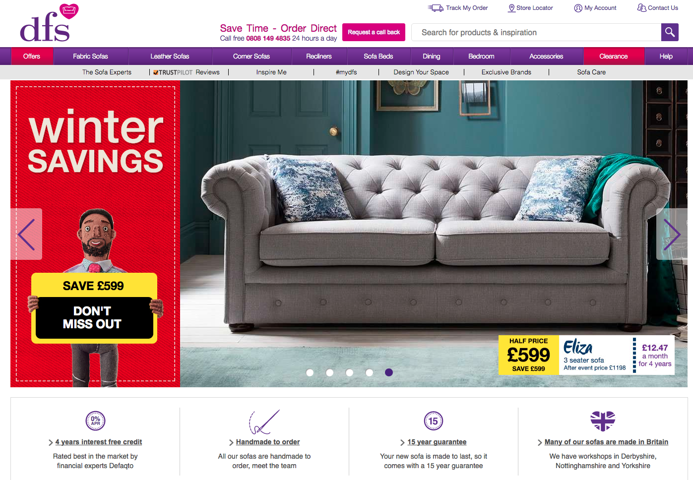 DFS homepage