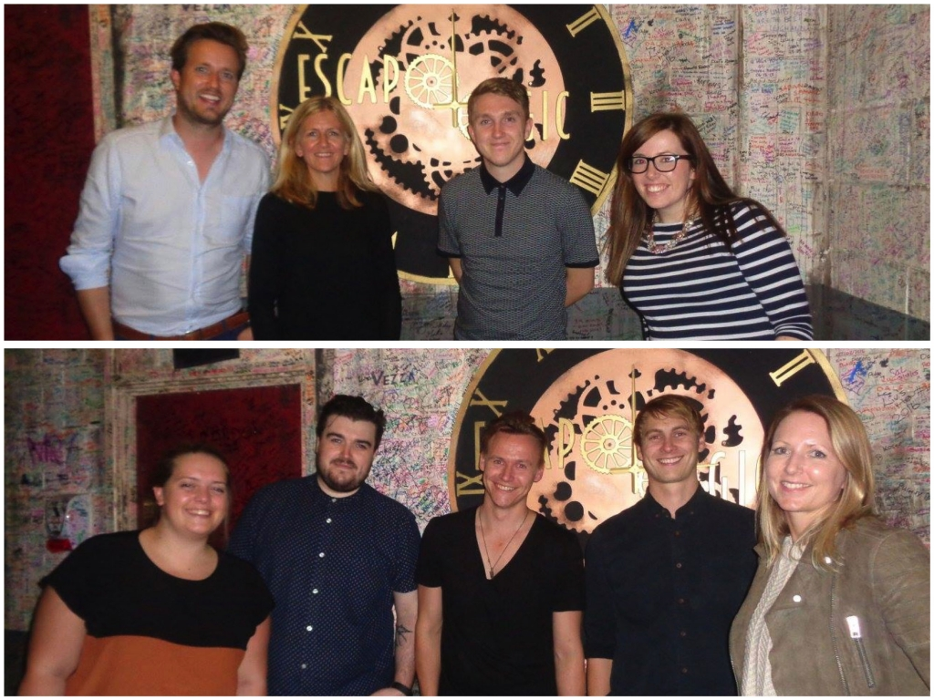 Both teams escaped their rooms in time for dinner.