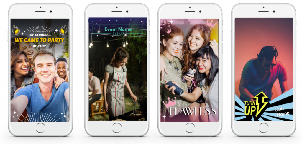 Snapchat geofilter examples